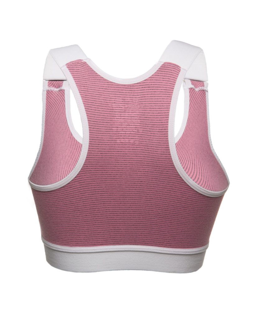 Karlee Smith Bra - Sexy Lady Velcro Bra - Pink Stripe