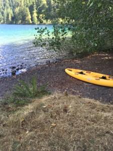 Kayaking to eliminate writer's block for Dark Awakening.