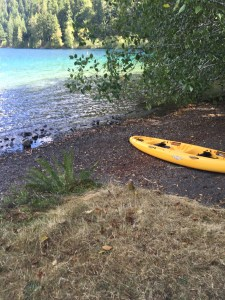 Kayaking to eliminate writer's block for Dark Awakening.