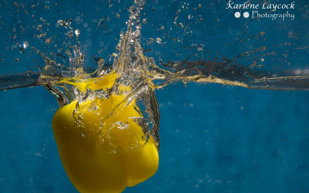 Yellow Pepper dropping into water 2