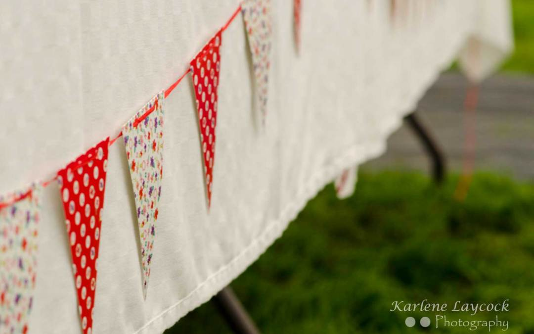 Image of Bunting taken at Local Bake Off Event