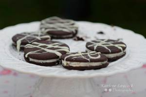 Bake Off Oreo Cookies Displayed on a White Plate