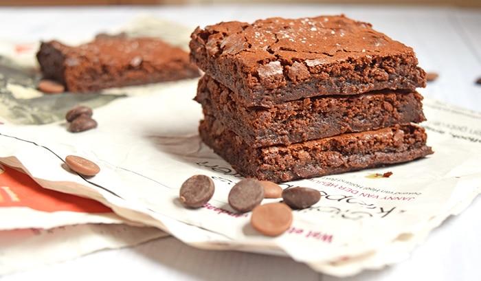 Salted caramel brownies - Karlijnskitchen.com
