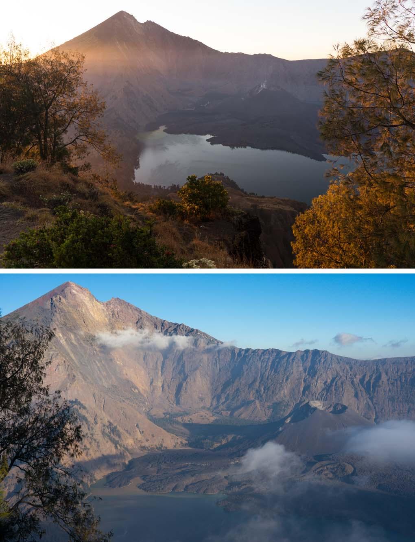uitzicht krater Rinjani
