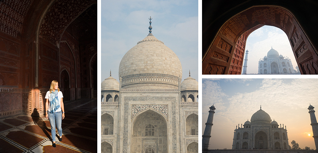 Taj Mahal zonsopkomst