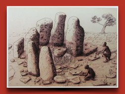 A common practice of human exchange seems to have arisen from groups of hunter gathers coming together and building standing stone sites.
