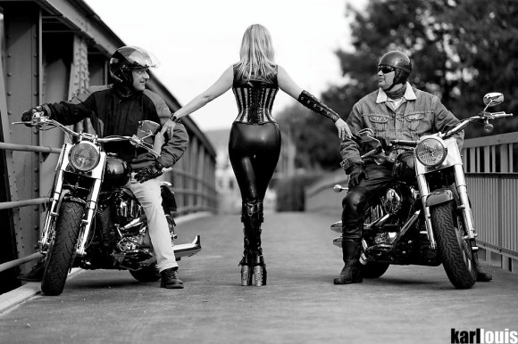 zahra and the harleys © karl louis