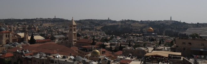 The skyline of Jerusalem from the citadel.