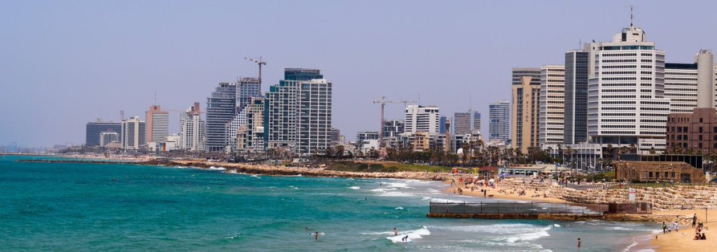 The beaches of Tel Aviv from Jaffa