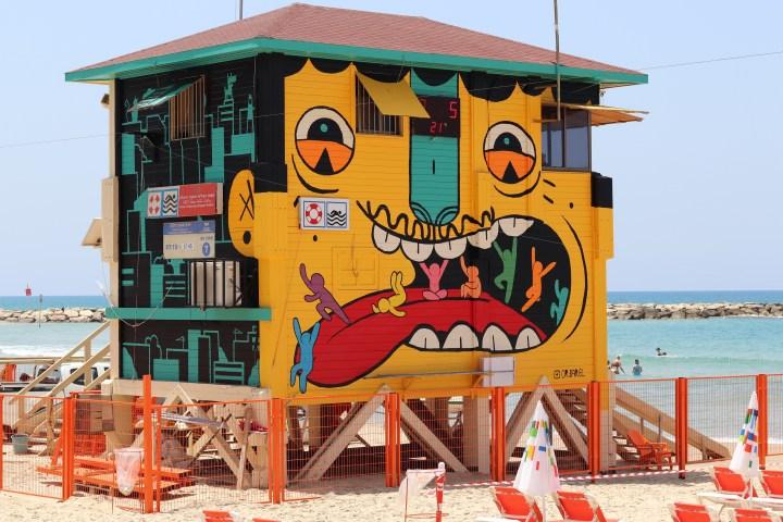 Lifeguard station at Banana Beach