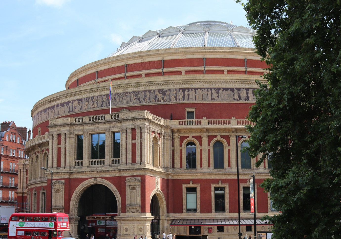 The Royal Albert Hall from Kensington Gardens