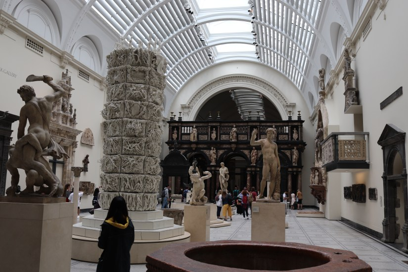Inside the Victoria and Albert museum in London