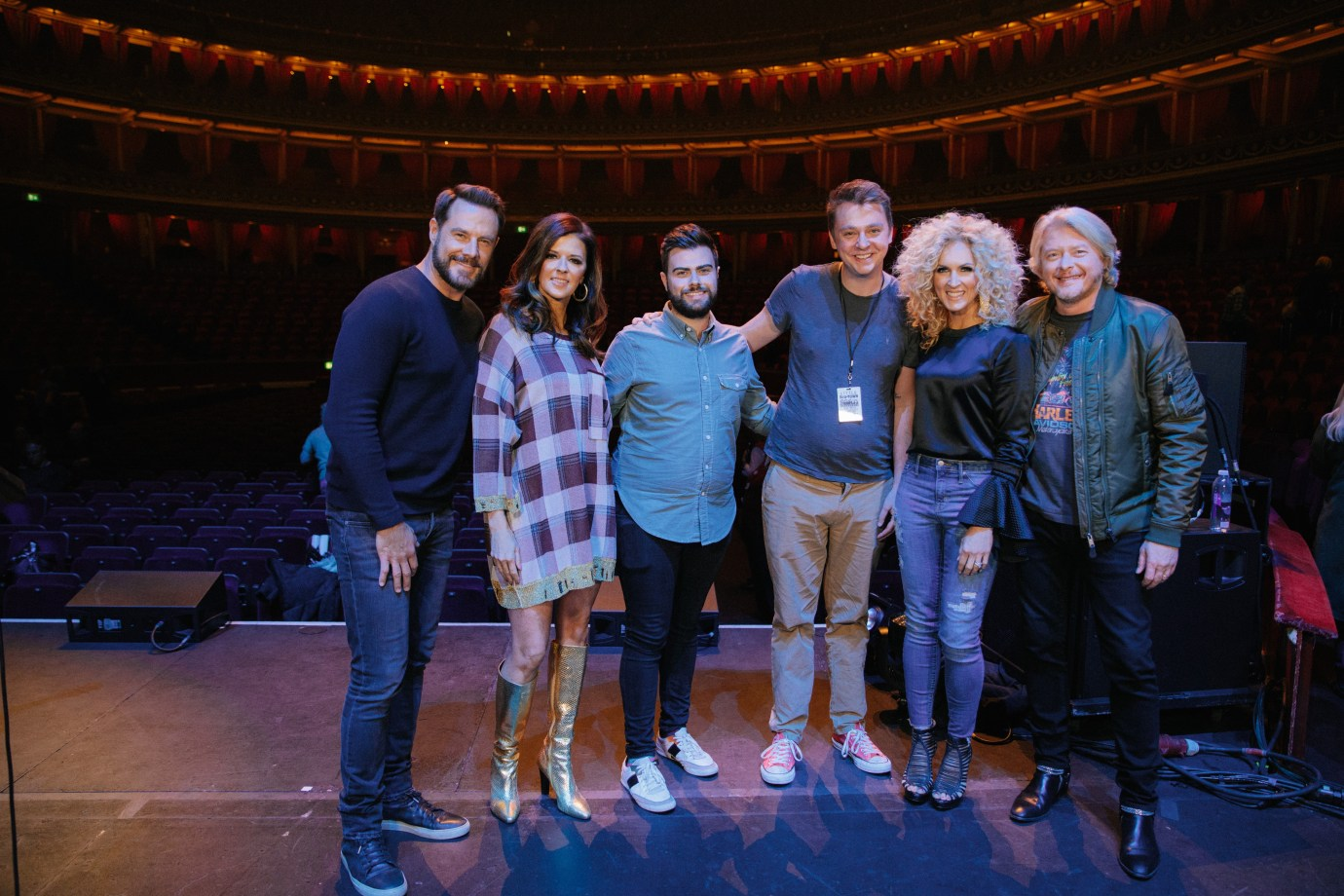Meeting Little Big Town on stage at the Royal Albert Hall