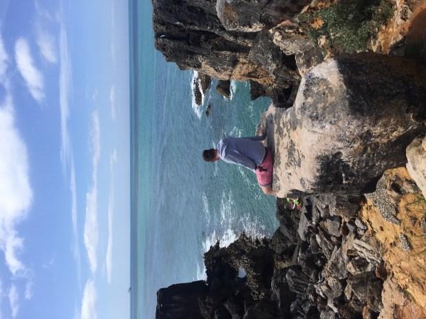 Contemplating life at Boca Do Inferno