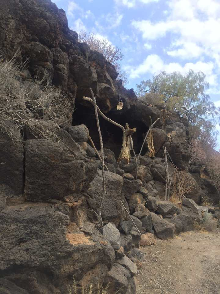 A recreation of a Guanche cave dwelling.