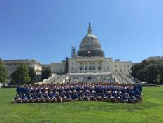 The 3 Journey of Hope teams at the US Capitol Building after cycling across America. South - Long Beach, CA to DC. North - San Francisco, CA to DC. Transamerica - Seattle, WA to DC. All to aid people with disabilities.