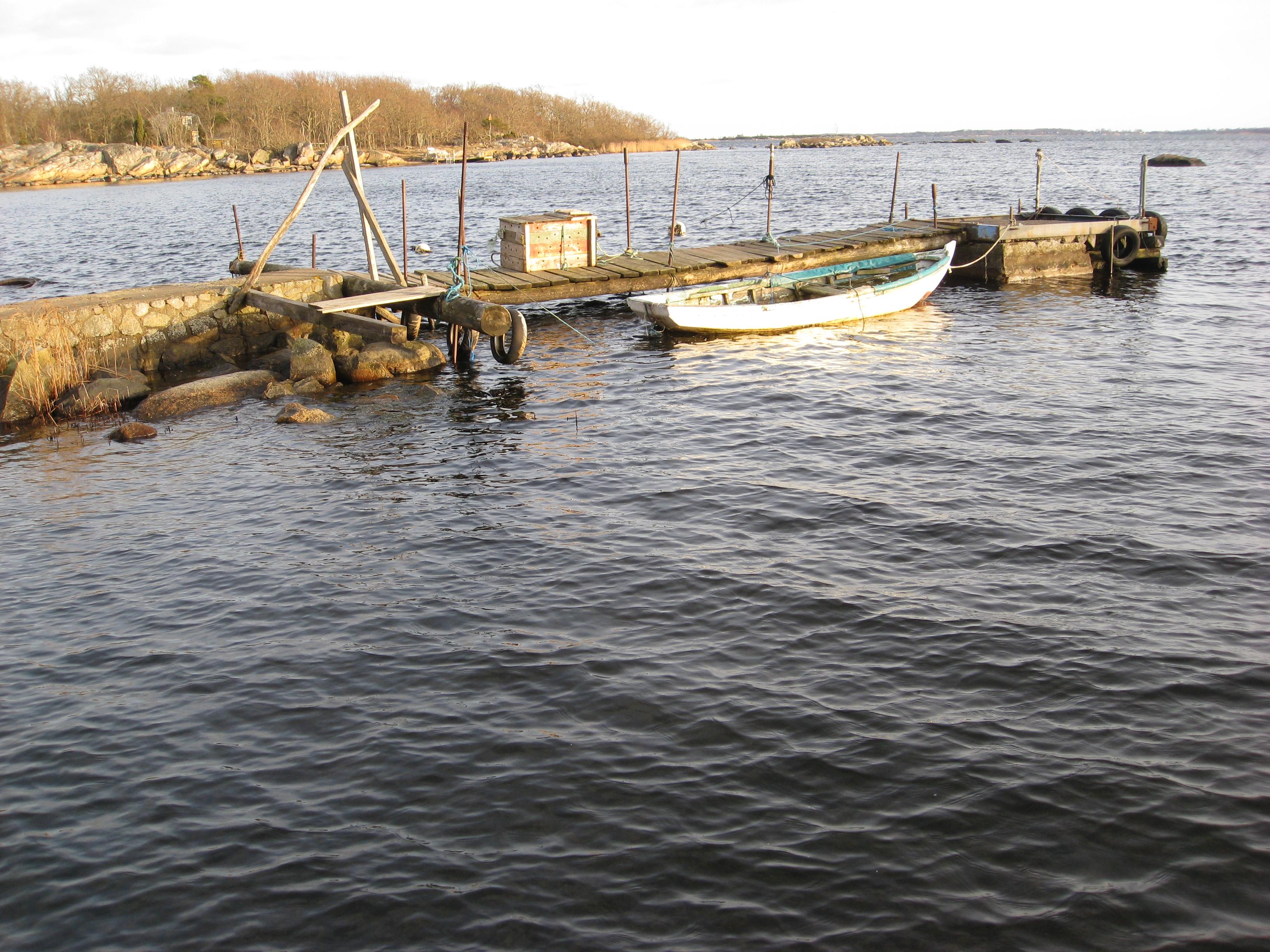 Båt på Verkö