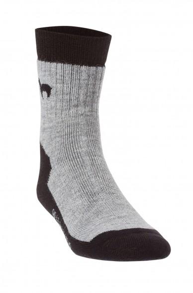 Vandringsstrumpor i alpackaull svart och grå