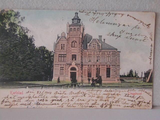 Tingshuset i Klara, ritat av Carl Crispin