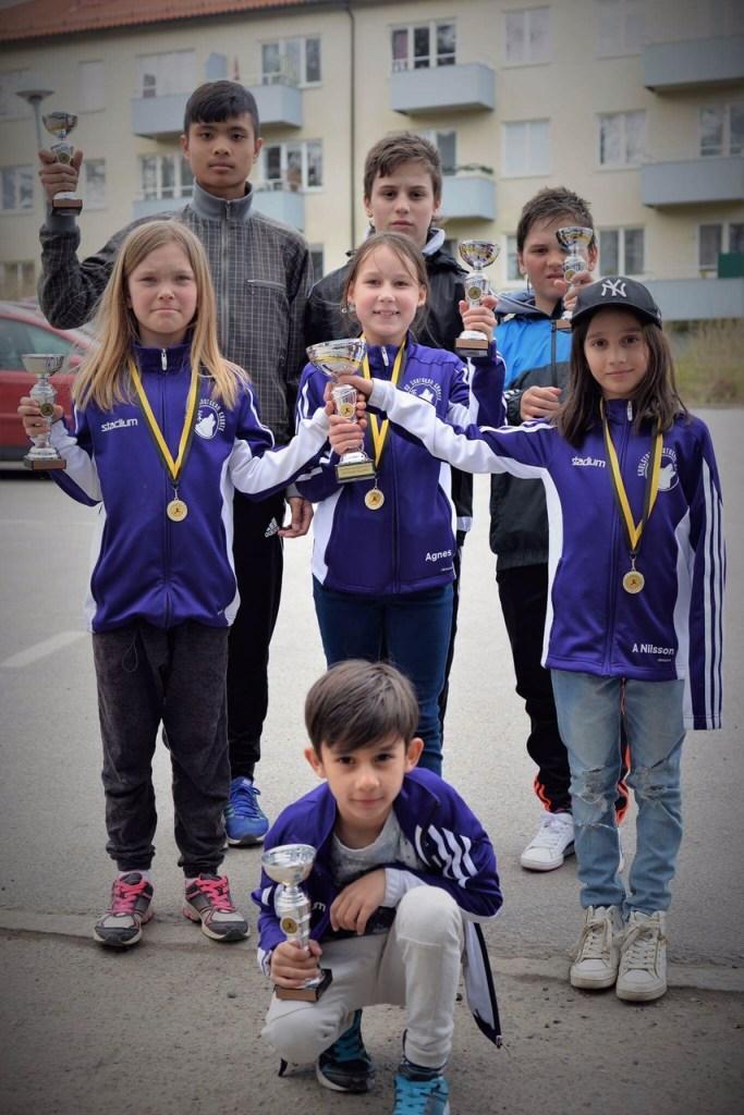 Meki, Albnor, Almir, Norah, Agnes, Alva och Alex placerade klubben på 12:e plats i poängligan med sju medaljer.