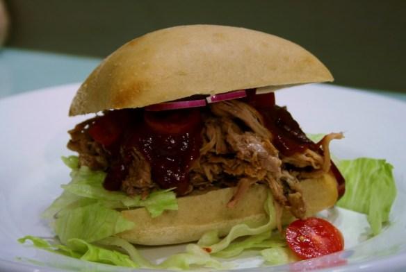 pulled pork med BBQ-sås