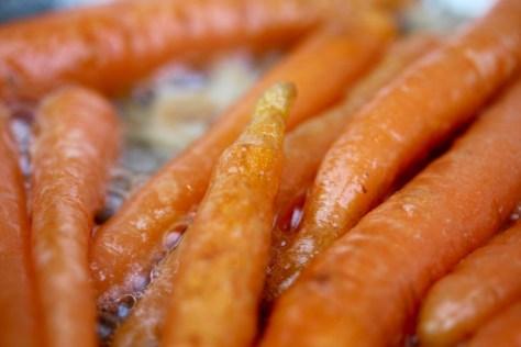 karamelliserade morötter
