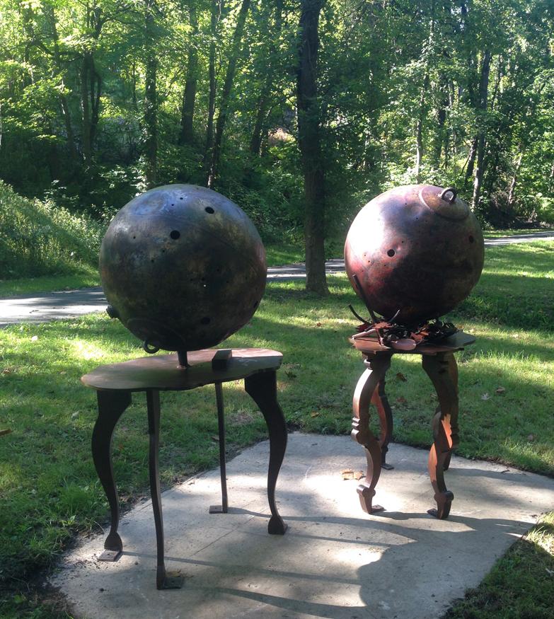 "David KImball Anderson, Karl Stirner Arts Trail Artist. Easton, Pennsylvania. KSAT. ""Hydrogen and Nitrogen"""