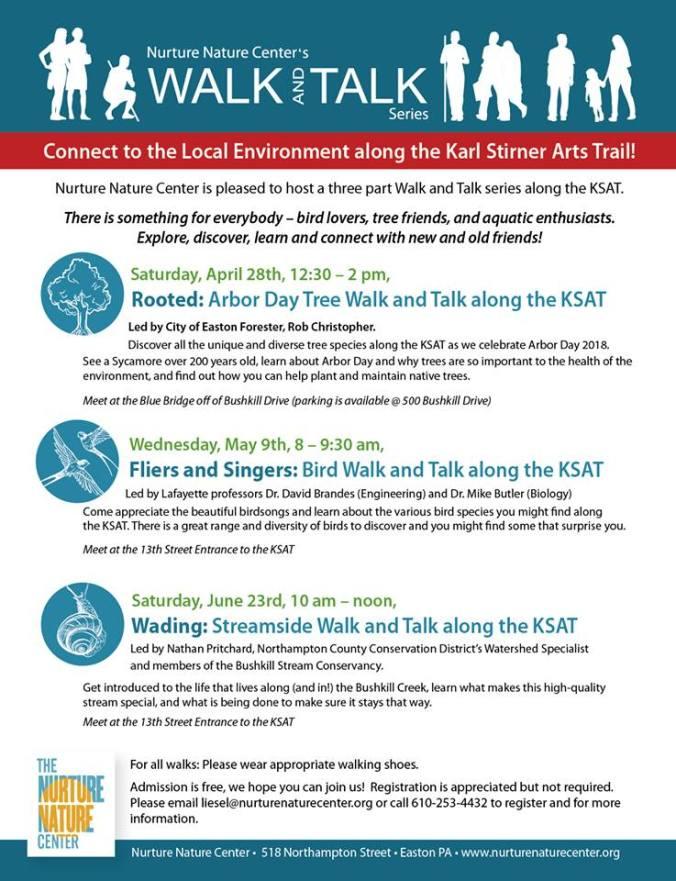 walk and talk series schedule along KSAT