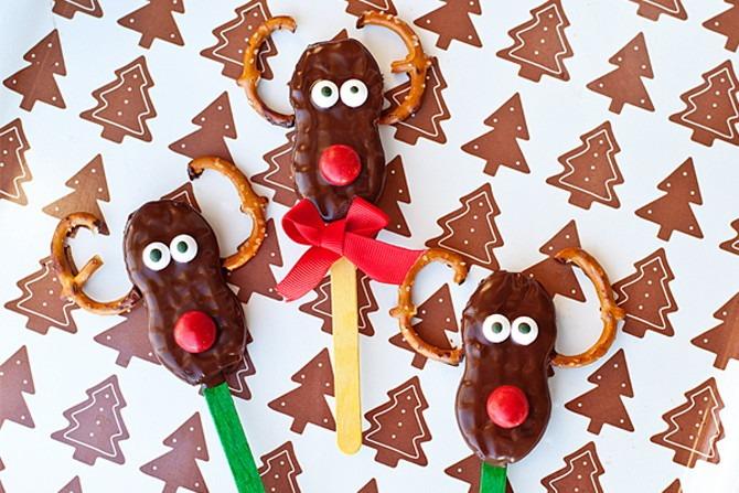 Nutter Butter Rudolph Cookies