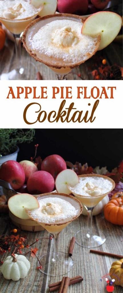 Apple Pie Float Cocktail