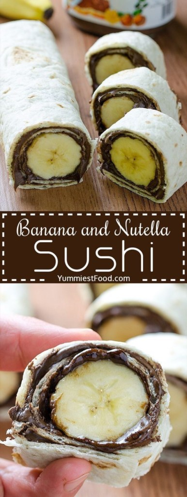 Banana & Nutella Sushi