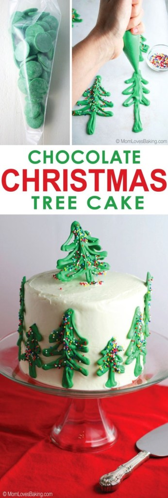 Chocolate Christmas Tree Cake