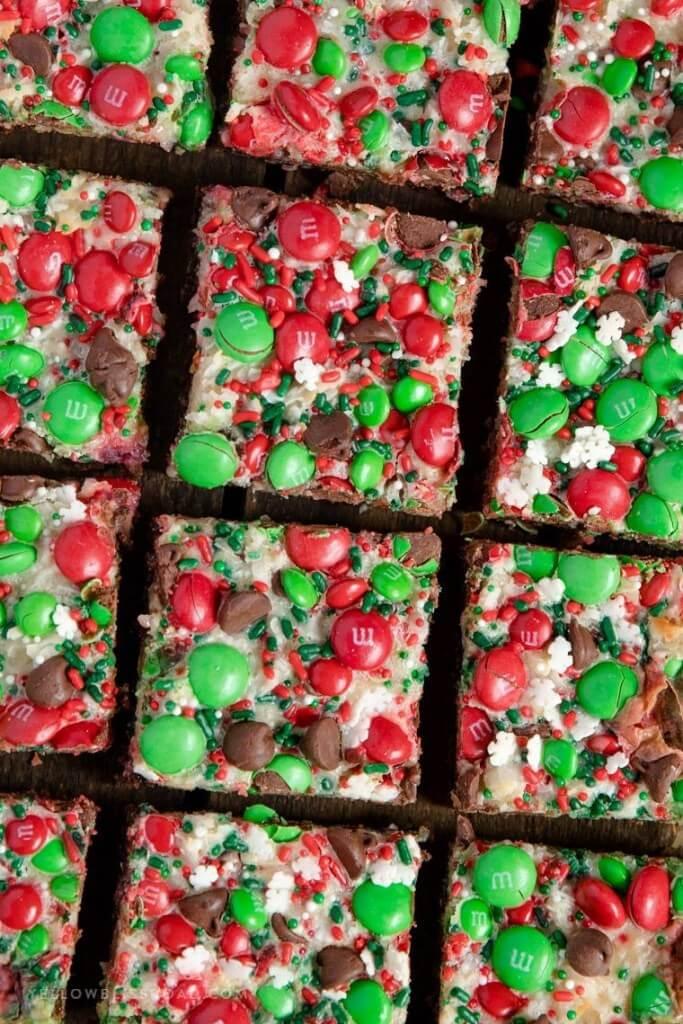 Christmas Magic Layer Brownie Bars