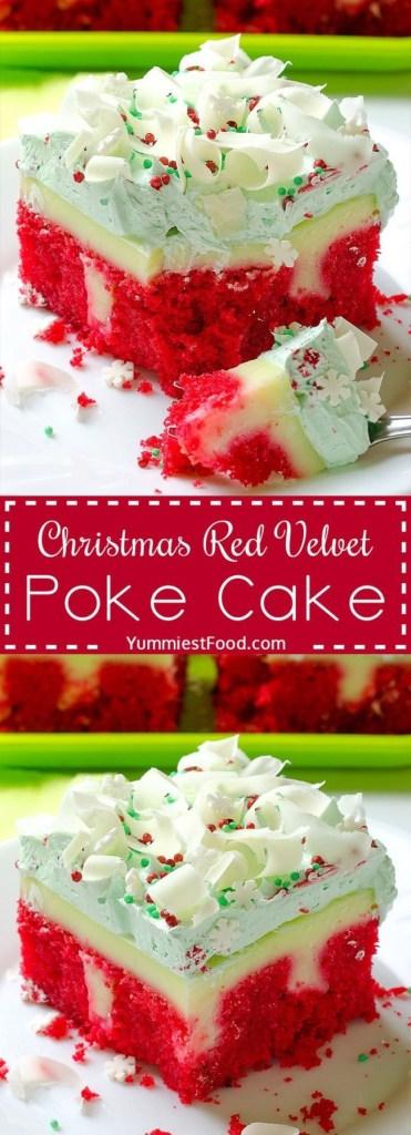 Christmas Red Velvet Poke Cake