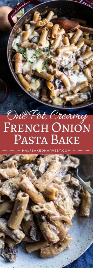 Creamy French Onion Pasta Bake