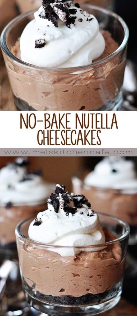 No-Bake Nutella Cheesecakes