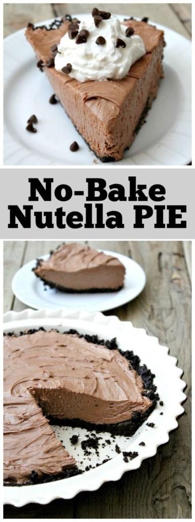 No-Bake Nutella Pie