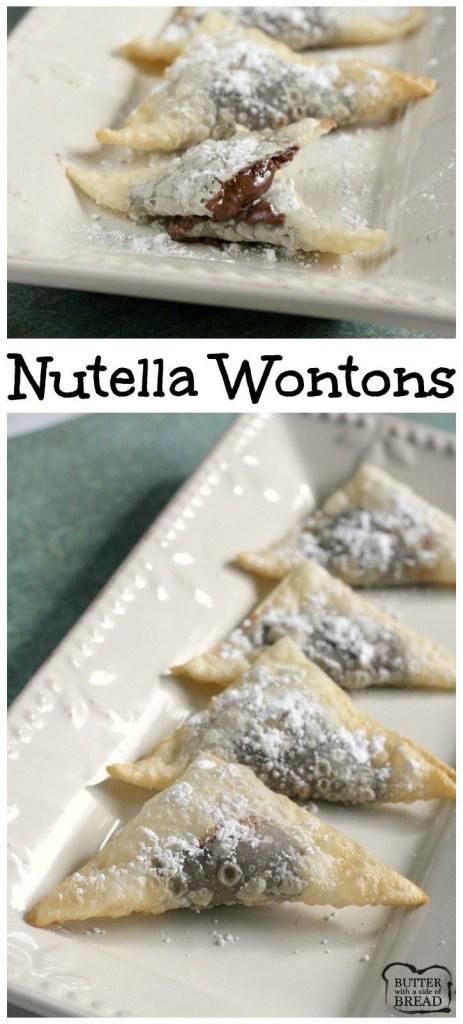 Nutella Wontons