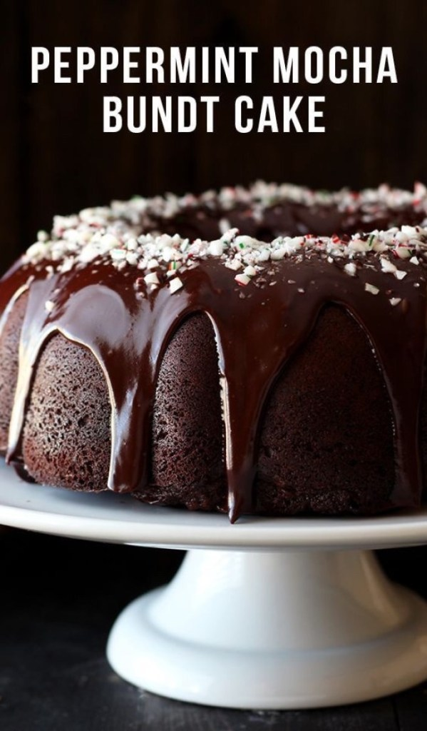Peppermint Mocha Bundt Cake