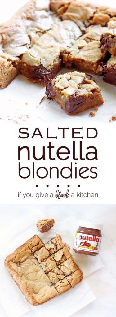 Salted Nutella Blondies