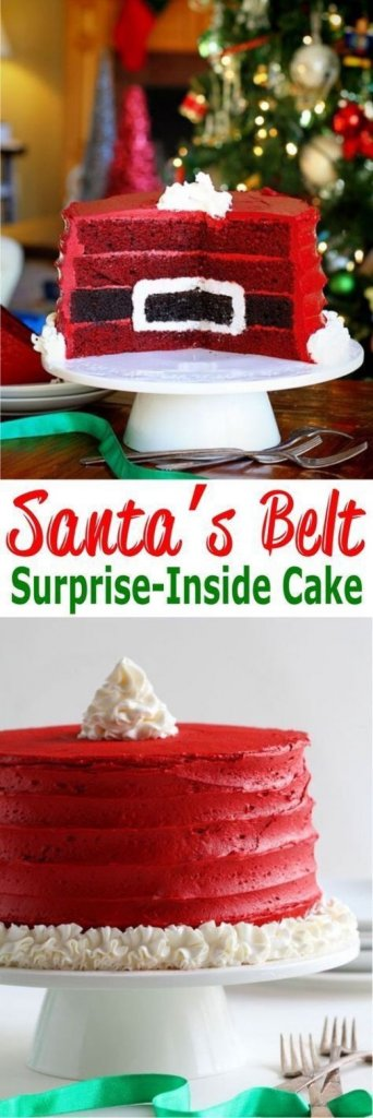 Santa's Belt Surprise Inside Cake