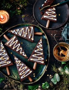 Spiced Christmas Tree Brownies