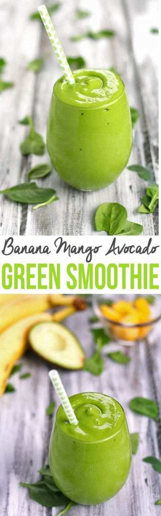 Banana Mango Avocado Green Smoothie