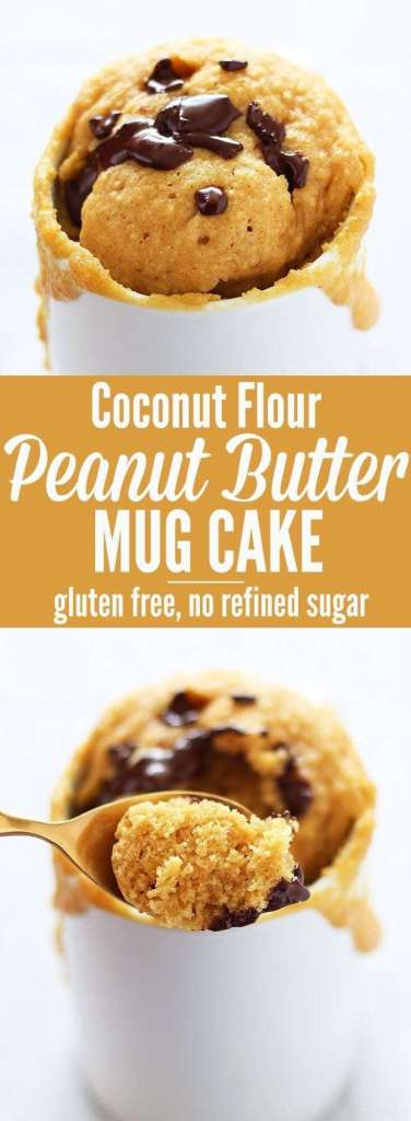 Coconut Flour Peanut Butter Mug Cake simple recipe