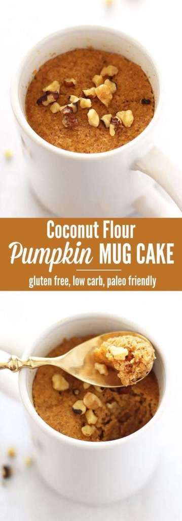 The best Coconut Flour Pumpkin Mug Cake