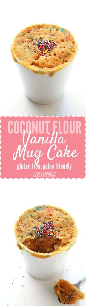 Coconut Flour Vanilla Mug Cake