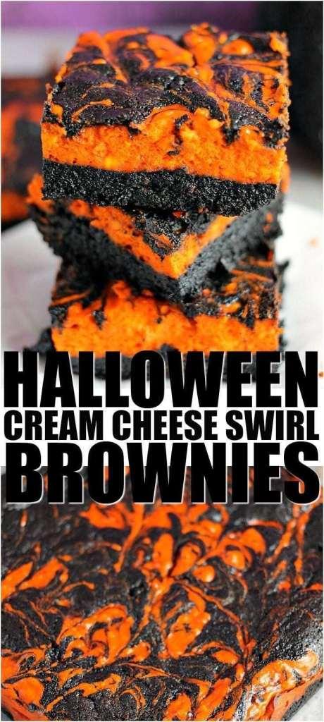 alloween Cream Cheese Swirl Brownies