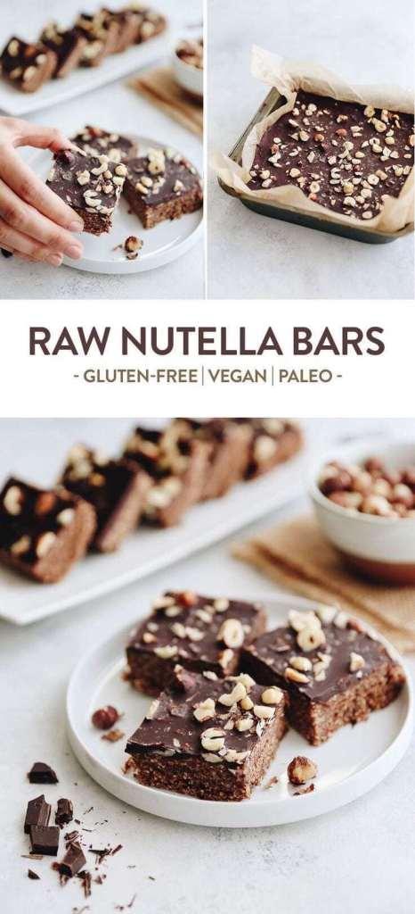 Raw Nutella Bars