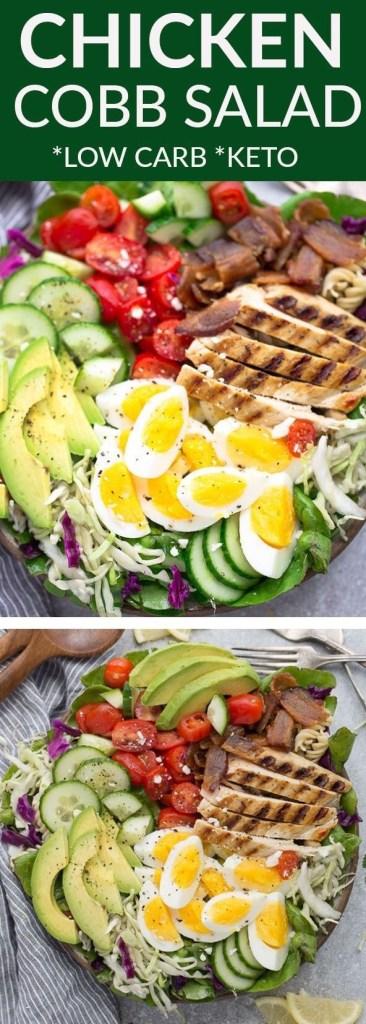 ow Carb Keto Chicken Cobb Salad