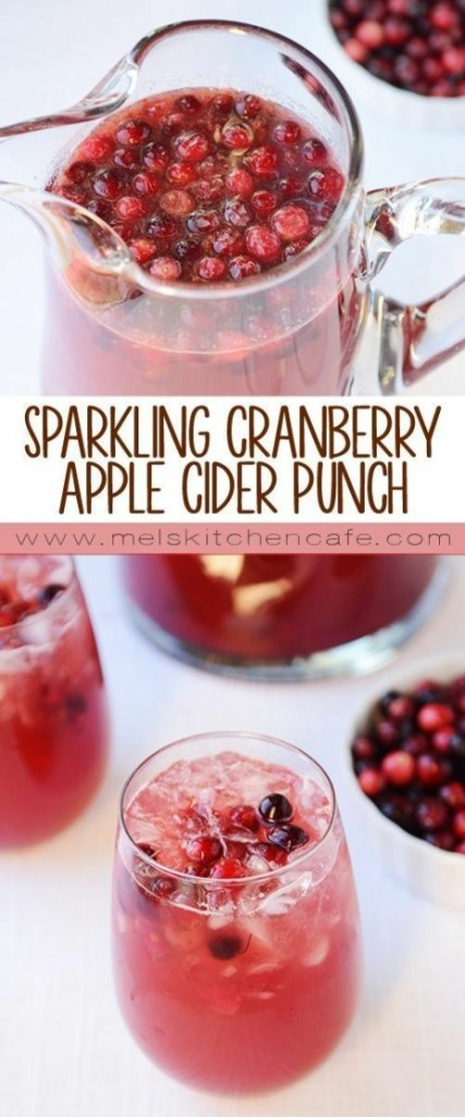 parkling Cranberry Apple Cider Punch